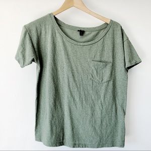 J.Crew Basic Pocket Tee Green Size Small